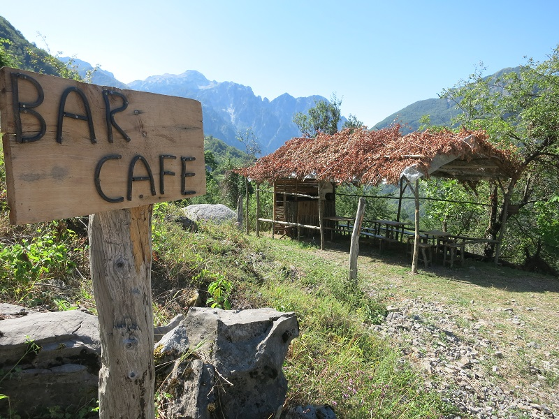 Café at Valbone to Theth trail