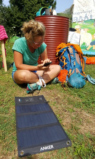 Anker Solar Charger Hike